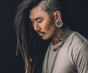 dread locks, ink, and handsome image