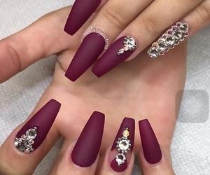 glamorous, violett, and nailsart image