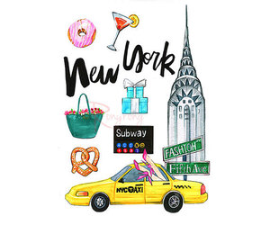 etsy, new york map, and new york print image