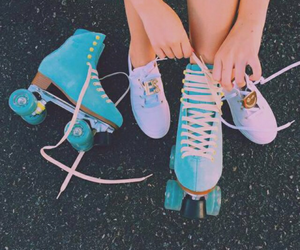 blue, roller, and shoes image