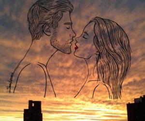 amor, atardecer, and goals image