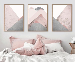 rose gold, room, and bedroom image