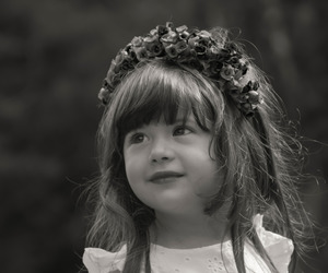 child, flowers, and portrait image