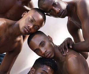 art, people, and black men image