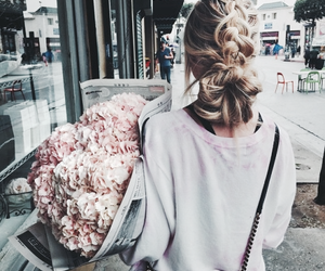 bouquet, flowers, and street image