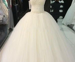 tulle bridal dress, beading bridal gown, and 2018 wedding dress trends image