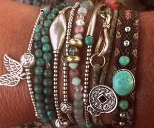 bracelet, boho, and jewelry image