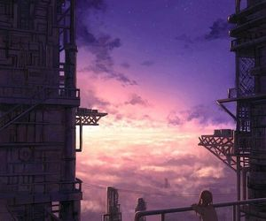 sky and anime image