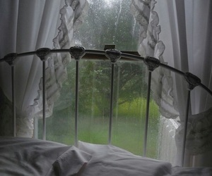 rain, bed, and grunge image