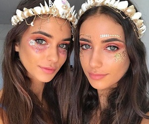 coachella, makeup, and brunette image