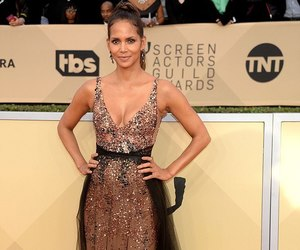 dress, Halle Berry, and red carpet image