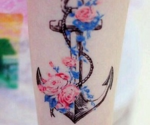 anchor, blue, and cute image