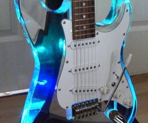 bass, instrument, and blue image