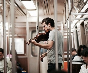 music, violin, and boy image