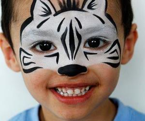face painting and kids image
