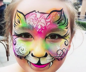 face painting, dragón, and cute image