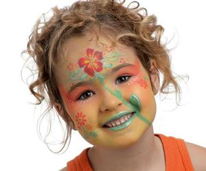 face painting, girl, and cute image