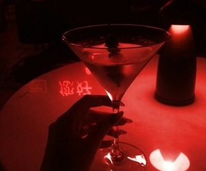 drink, red, and dark image