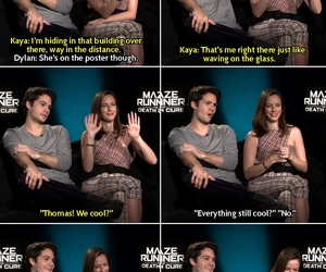 funny, thomas, and interview image