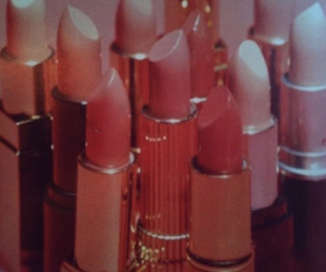 lipstick, pink, and vintage image