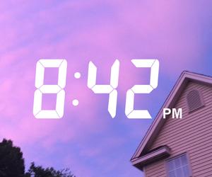 purple, sky, and aesthetics image
