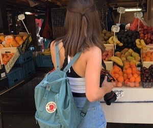 girl, fruit, and kanken image
