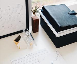 black, books, and calendar image