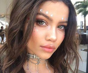 girl, makeup, and coachella image