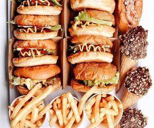 food, burger, and fries image