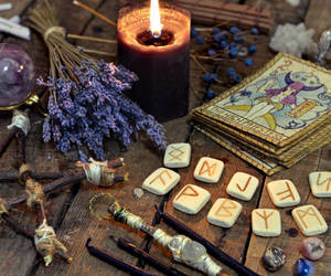 tarot, witch, and candle image