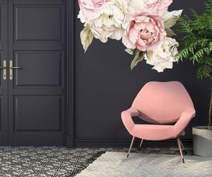 black, chair, and decor image