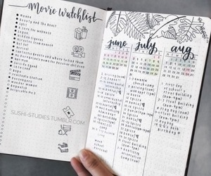 aesthetic, journal, and planning image