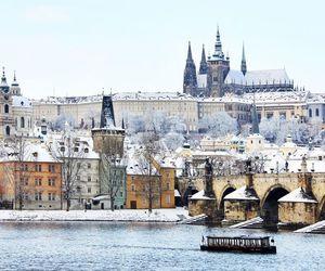 czech, winter, and prague image