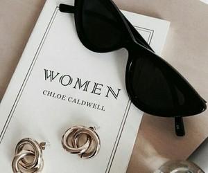 fashion, earrings, and sunglasses image