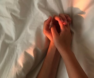love, hands, and light image