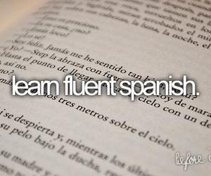 español, language, and bucket list image