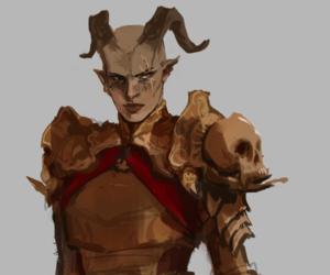 dragon age, qunari, and dragon age inquisition image