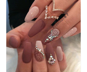 brown, jewls, and nails image