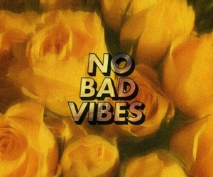 flowers, yellow, and no bad vibes image