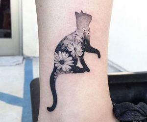 art, cat, and fashion image