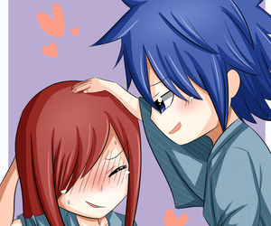 fairy tail, jerza, and cute image