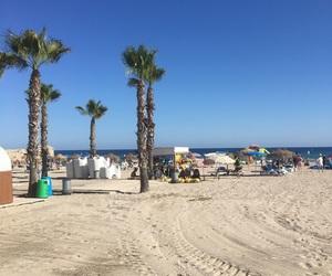 beach, summer, and moraira image