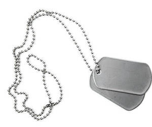 dog tags, military, and necklace image