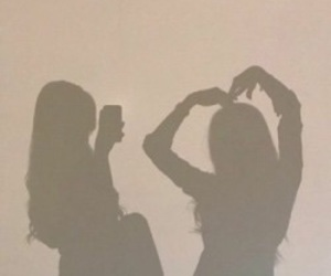 girl, friends, and shadow image