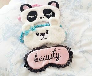 cute, sleep, and mask image