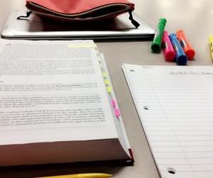college, notes, and study image