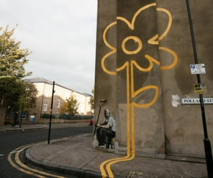 BANKSY, flowers, and street art image