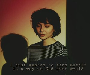 girl, god, and quote image