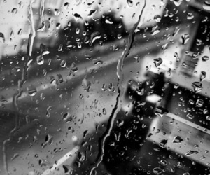 black, black and white, and rainy day image
