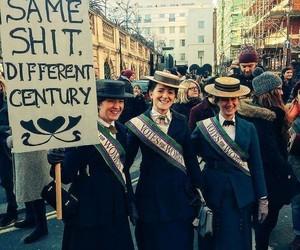 feminism, feminist, and trump image